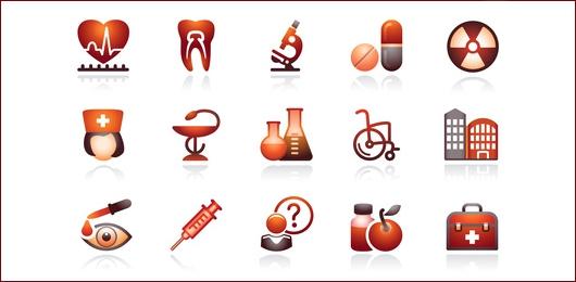 Original-Grafik:  Medicine web icons, set 2. Black and red series. © Iurii Timashov - Fotolia.com
